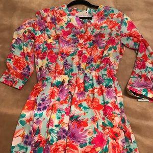 Dresses - Floral long sleeve dress
